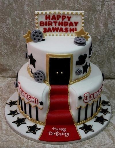 Groovy Movie Star Hollywood Cake With Images Hollywood Cake Funny Birthday Cards Online Elaedamsfinfo