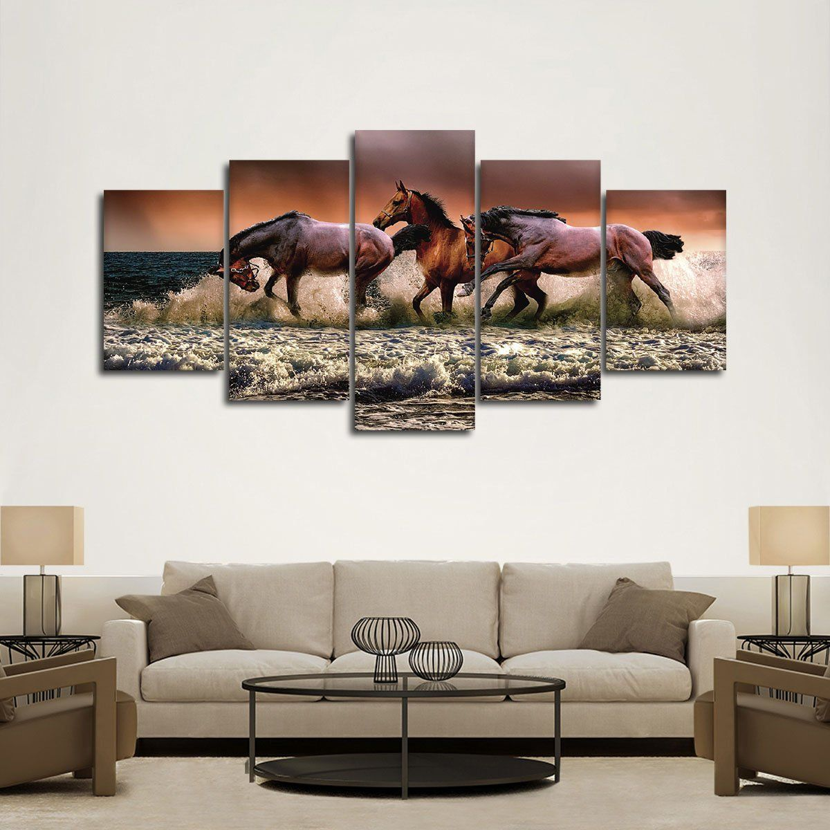 Epic Mustang Horses Wall Art Horse Wall Art Canvas Wall Art Animal Wall Art