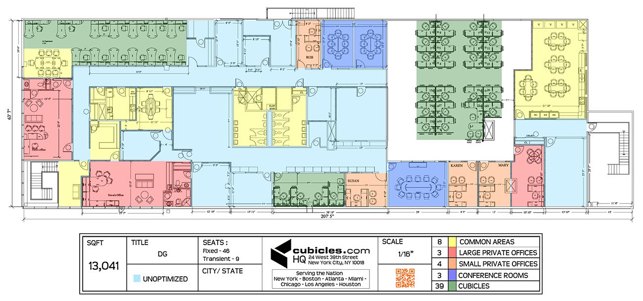 Office planning for a large office officelayout office for Cubicle floor plan