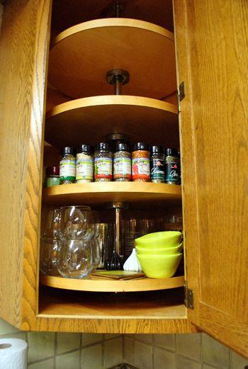 Built In Lazy Susan In Corner Cabinet