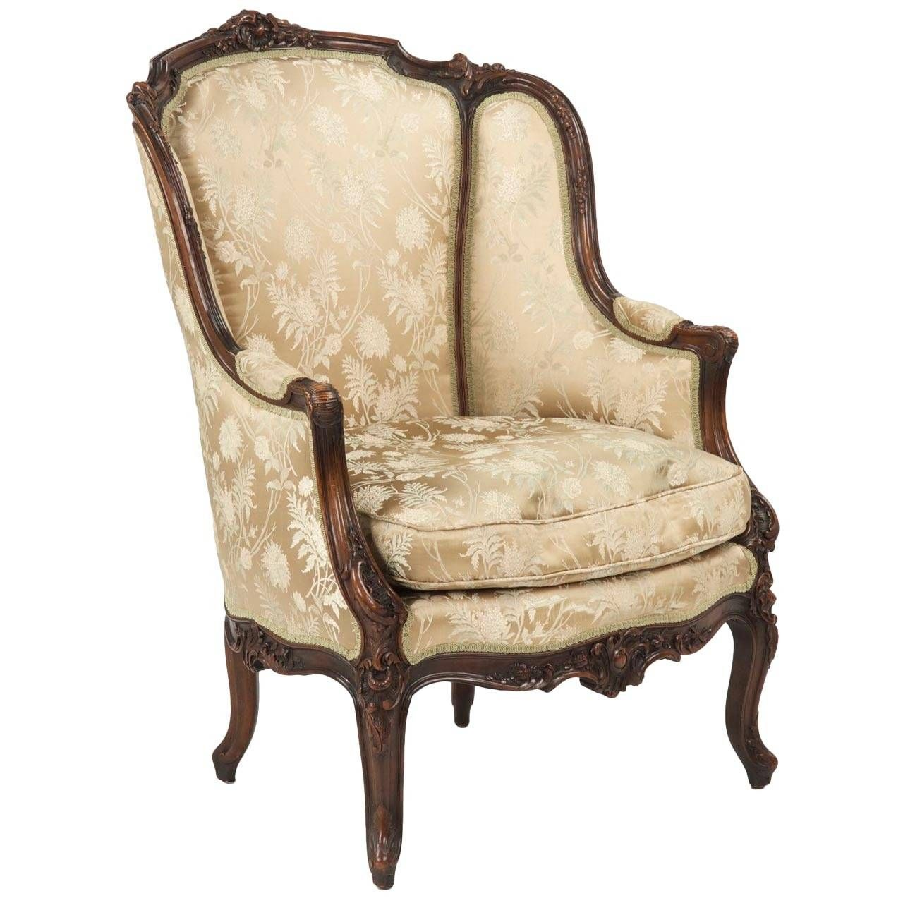 19th Century Rococo Revival Antique Bergere Armchair in Louis XV Taste |  From a unique collection - 19th Century Rococo Revival Antique Bergere Armchair In Louis XV