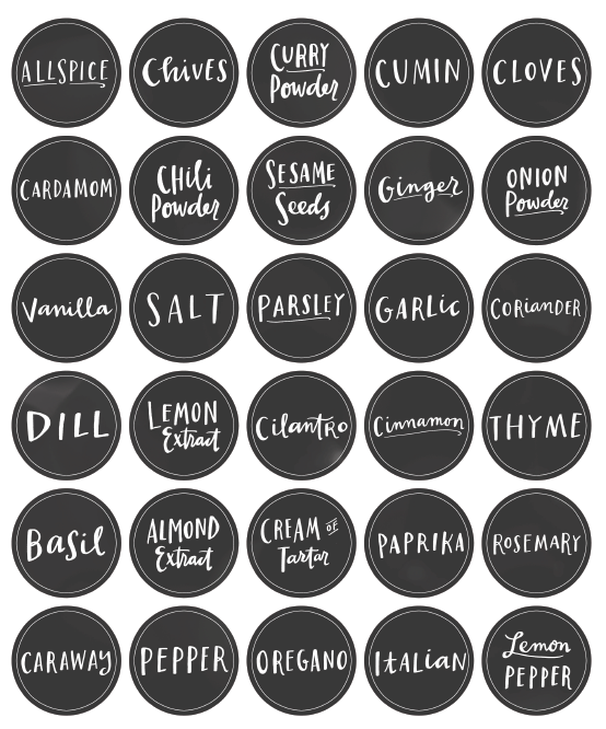 photo relating to Printable Spice Jar Labels identify Cost-free Pantry Labels Paper Crafts Pantry small business