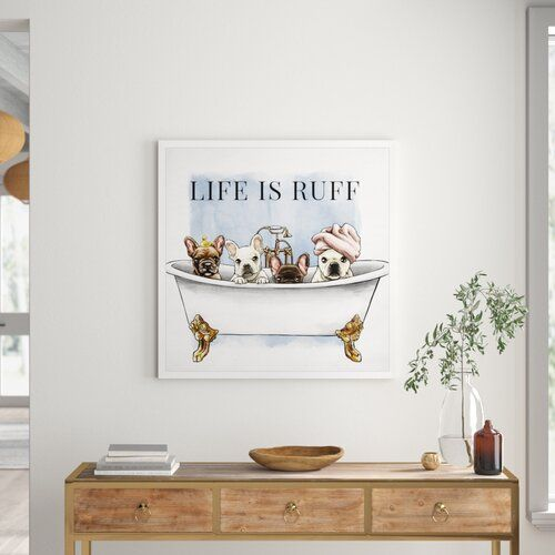 Photo of Poster Life is Ruff East Urban Home Format: canvas wrap