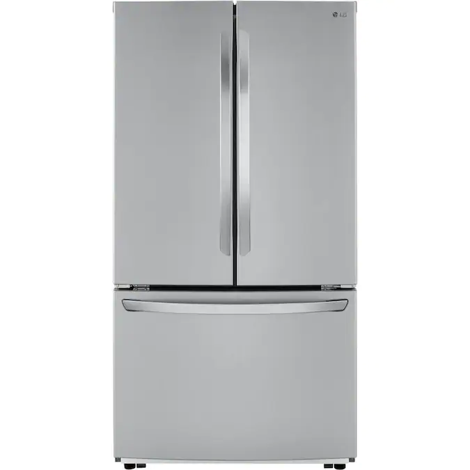 Lg 22 8 Cu Ft Counter Depth French Door Refrigerator With Ice Maker Fingerprint Resistant Stainless Steel Energy Star Lowes Com In 2020 French Door Refrigerator Counter Depth Counter Depth French Door Refrigerator