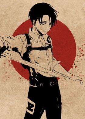 'Levi' Metal Poster Print - Everything Anime   Displate