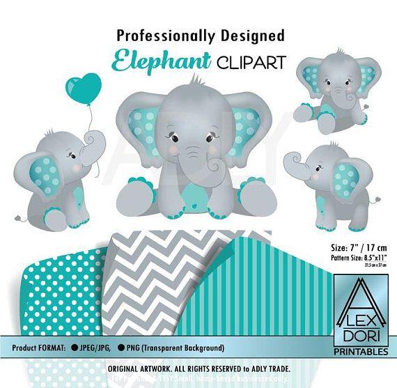 girl elephant shower baby