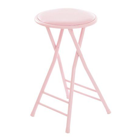 Marvelous Folding Stool Heavy Duty 24 Inch Collapsible Padded Round Beatyapartments Chair Design Images Beatyapartmentscom