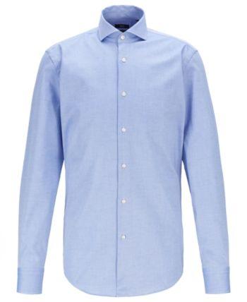 47156af63 Boss Men's Jason Jason Travel Line Slim-Fit Shirt - Blue 15 in 2019 ...