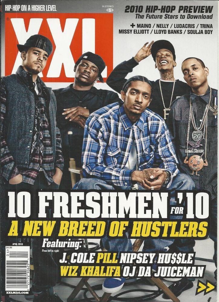 XXL magazine Freshman class J Cole Pill Nipsey Hussle Wiz Khalifa OJ