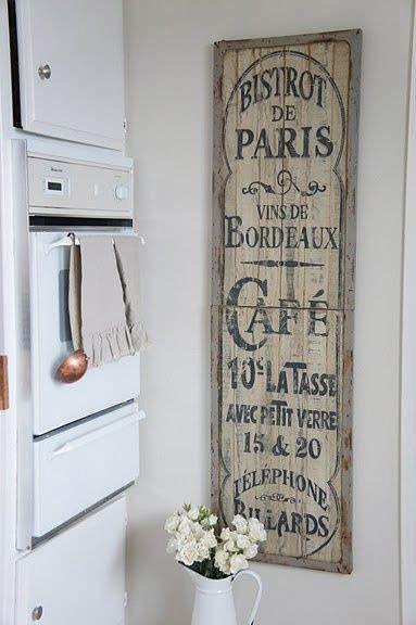 C mo decorar la pared de la cocina shabby vintage wood - Como decorar cocina ...
