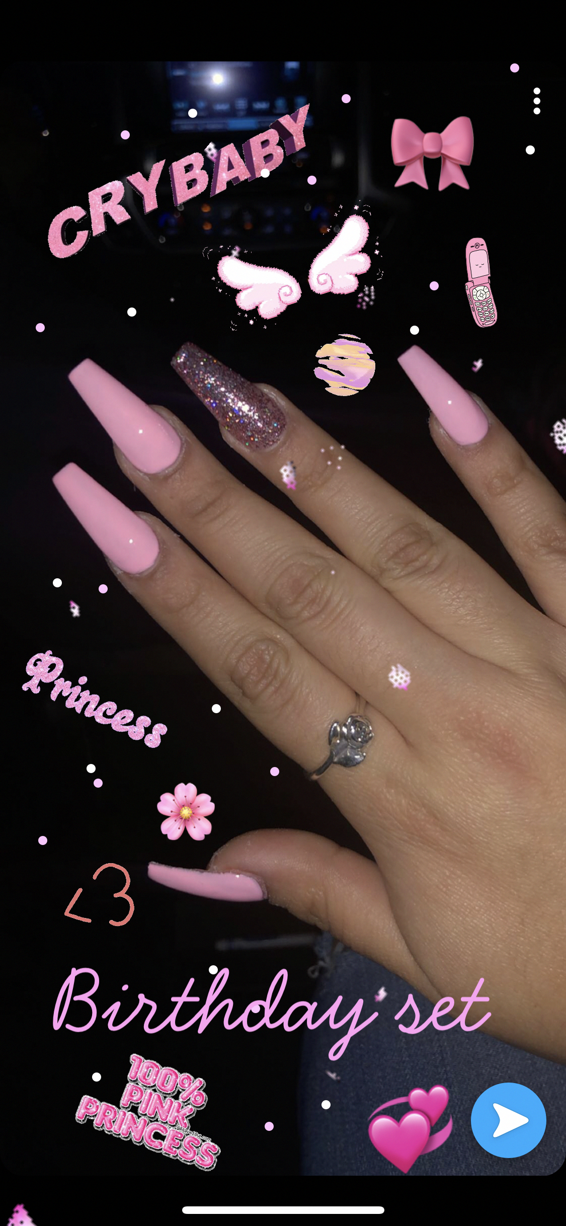 Buy Amazon Amzn To 2a9biwl My 18th Birthday Set Pink Acrylic Nails Glitter Coffin Baddi Acrylic Nails Coffin Pink Long Acrylic Nails Ombre Acrylic Nails