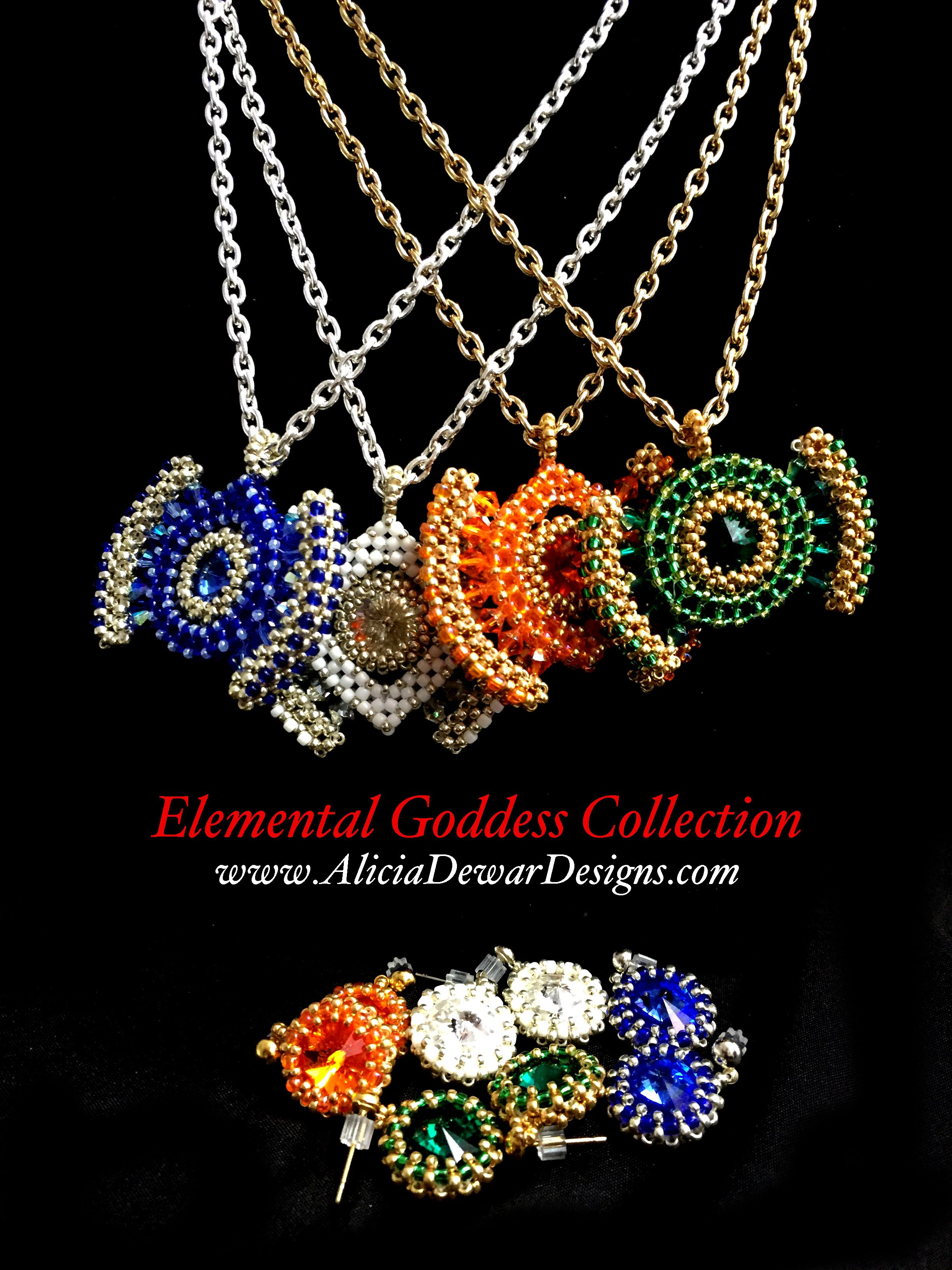 Elemental Goddess Jewelry Collection by Alicia Dewar Designs