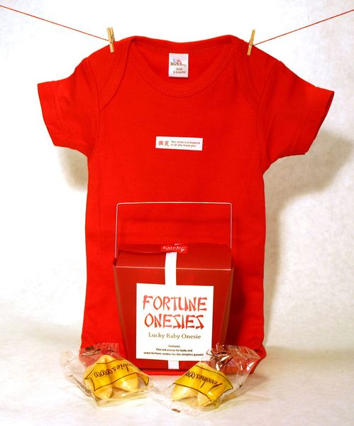 Fortune Onesies - Every baby needs a lucky onesie! Choose fortune from Luck, Power, Life, Journey, Sandman or Smile AU$19.95