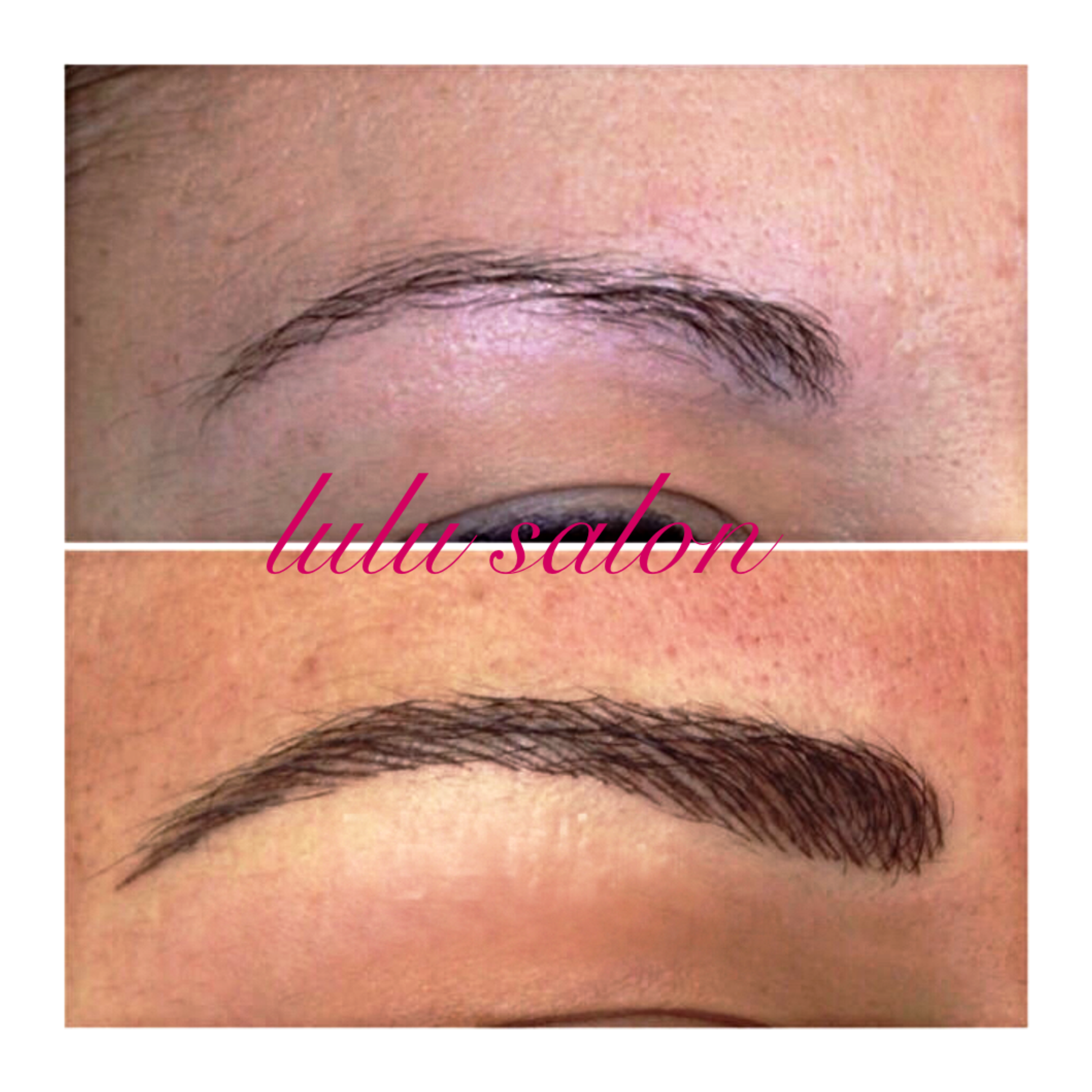 3d Microblading Eyebrows Before After Lulu Salon Day Spa