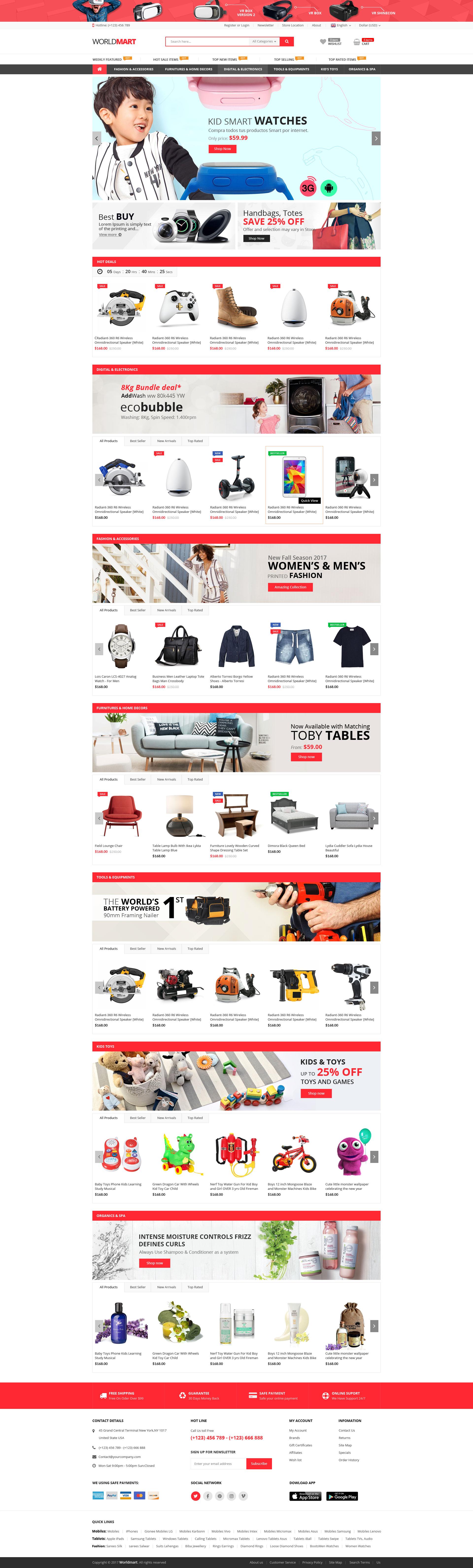 Worldmart Woo merce WordPress Theme Pinterest