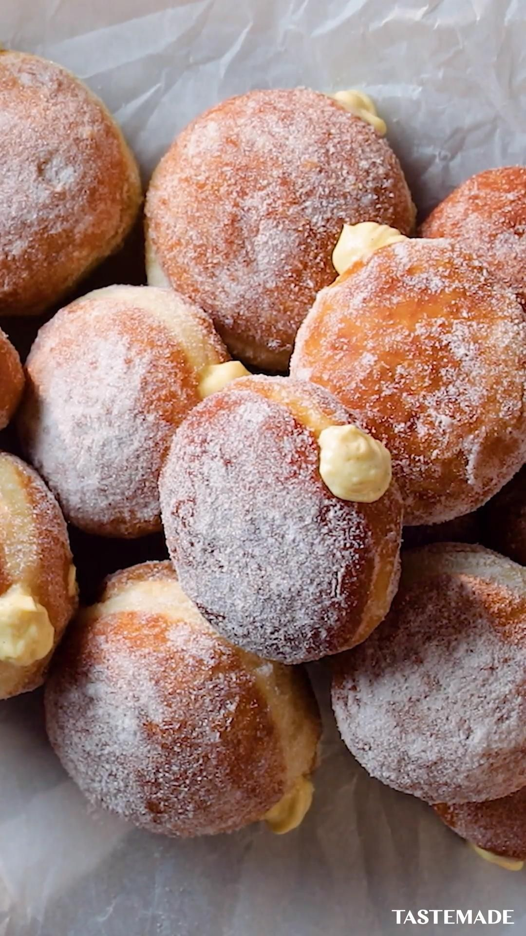 Easy Homemade Custard Donuts