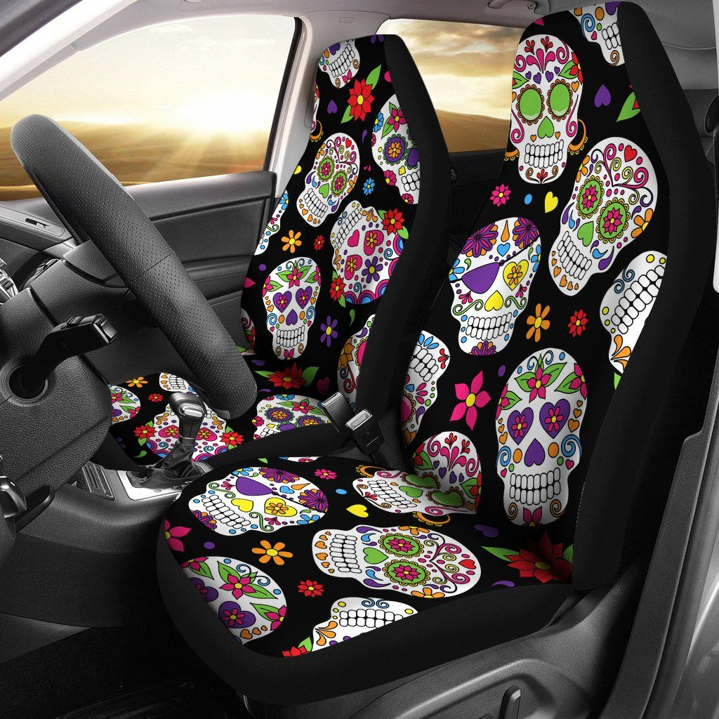 Colorful Sugar Skulls Car Seat Covers Products I Love