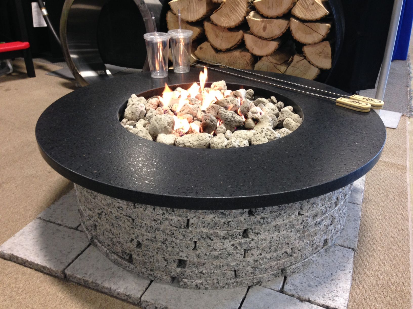 outdoor granite fire pits by granitefirepits ca assembles in one