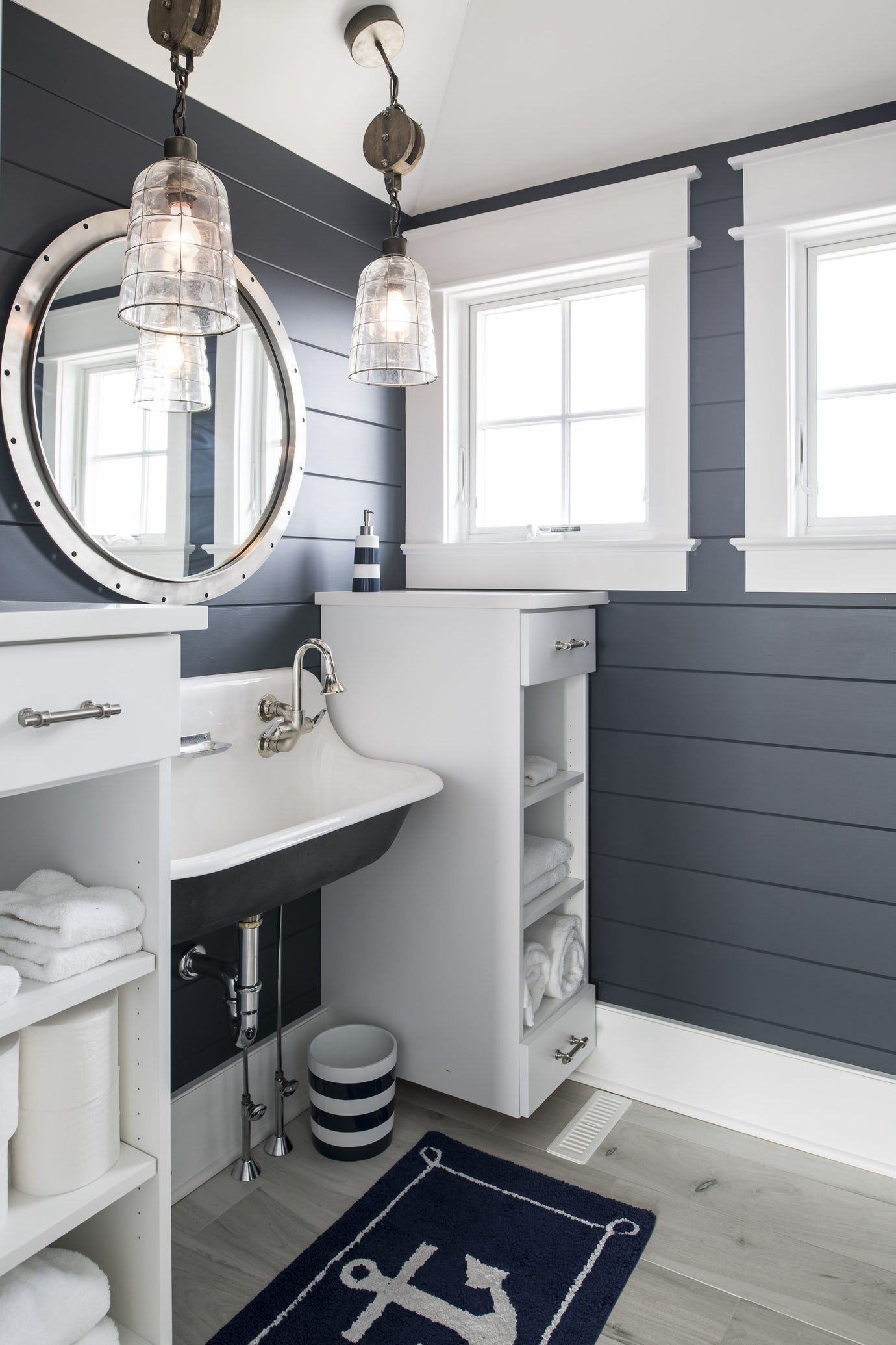 THE BEACH COTTAGE PROJECT Bath Design Detail American Cottage Coastal by Town & Country Kitchen and Bath