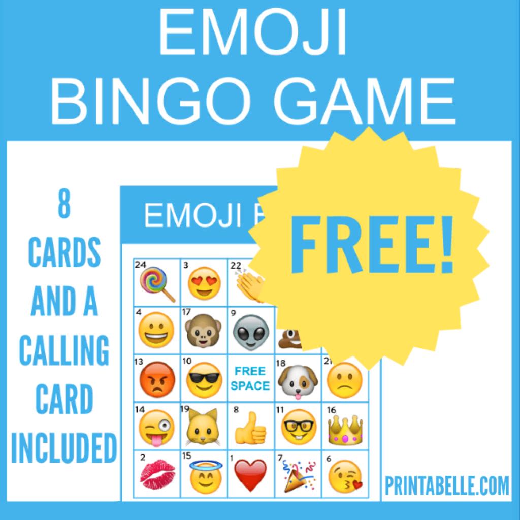 Free Printable Emoji Bingo Game Emoji Bingo Free Printable Bingo Cards Emoji Party