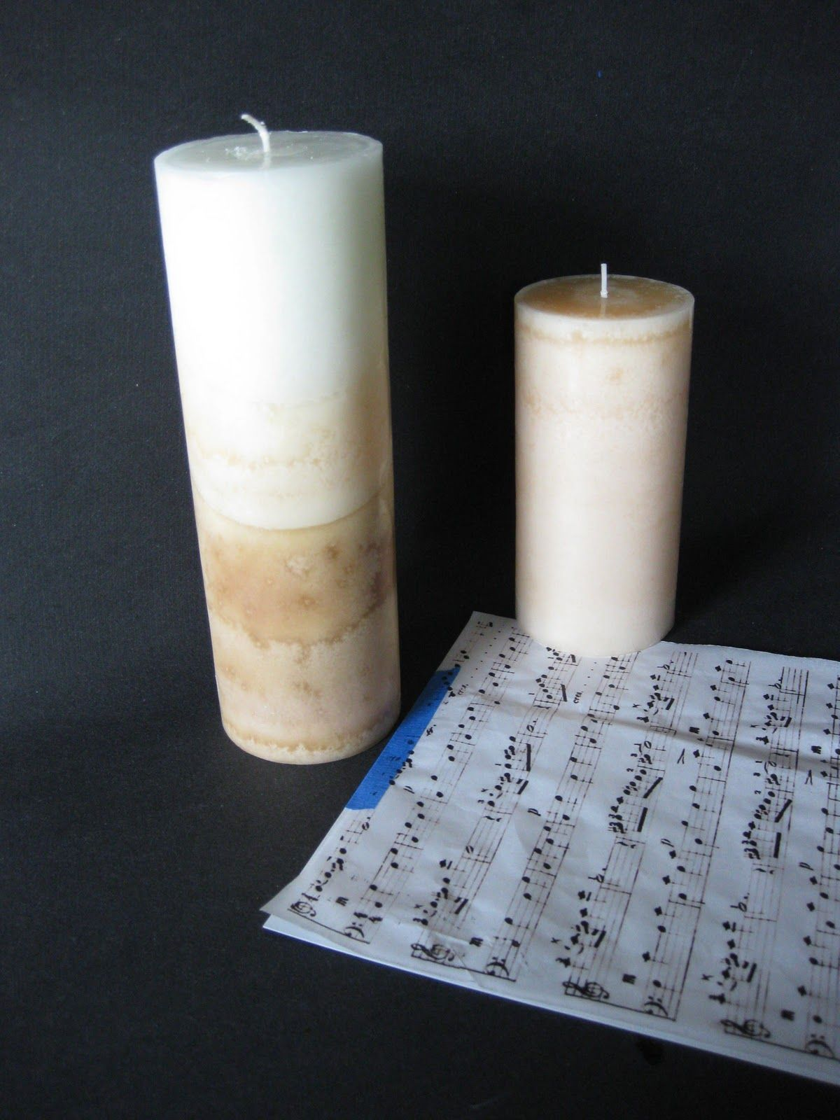 Sheet music candle DIY You re a crafty machine Pinterest