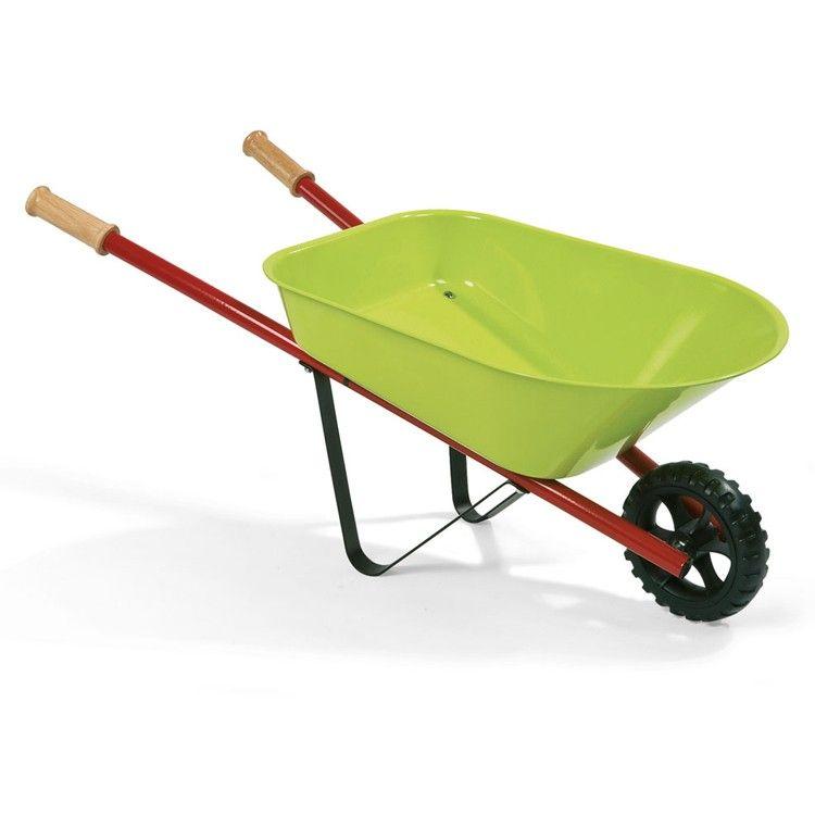 Kids Metal Wheelbarrow 3 Pc Garden Tools Set Acessorios