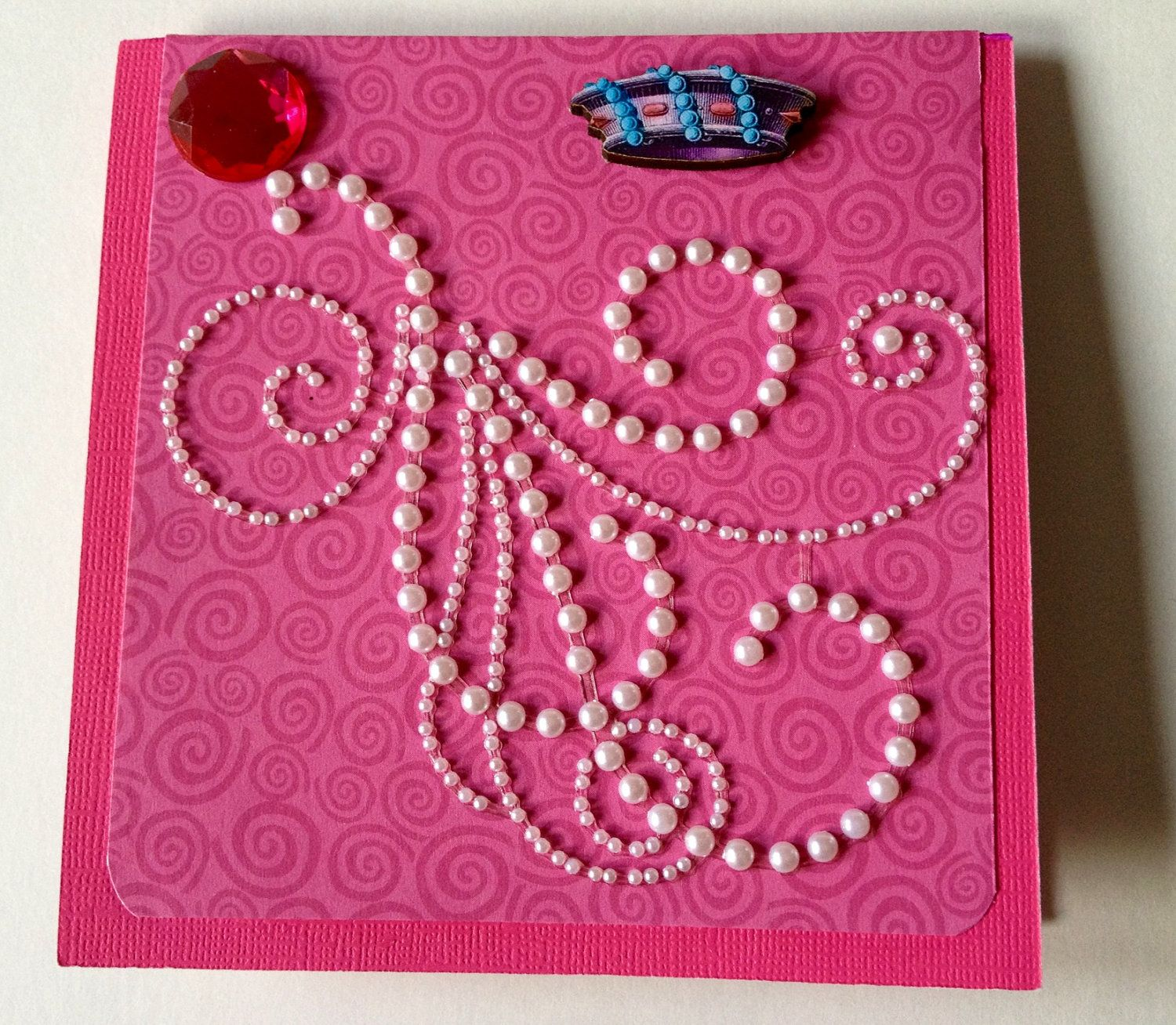 3d Handmade Birthday Card Pearls And Whirls Handmade Birthday