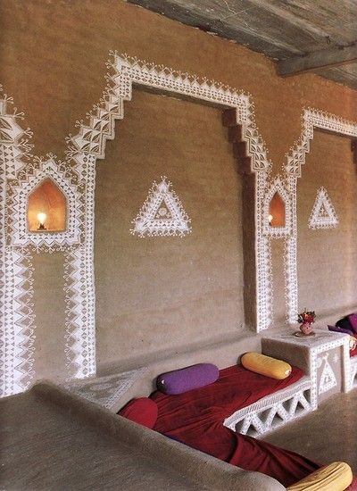 Moon to decorated indian mud huts also best wall deco images on pinterest murals ornament and rh