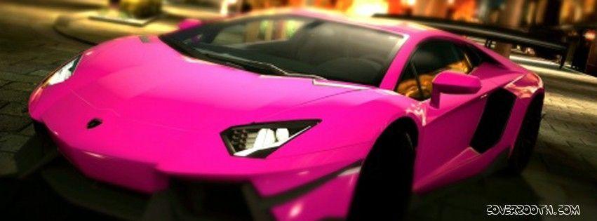 fabulous pink sports car