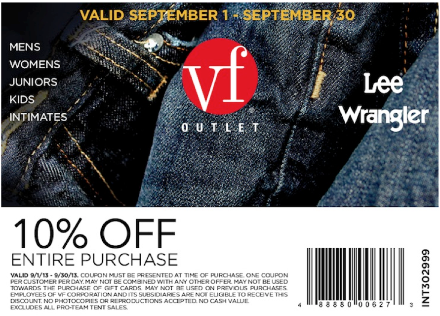 picture regarding Vanity Fair Coupons Printable known as Self-importance Acceptable Outlet: 10% off Printable Coupon Heading areas