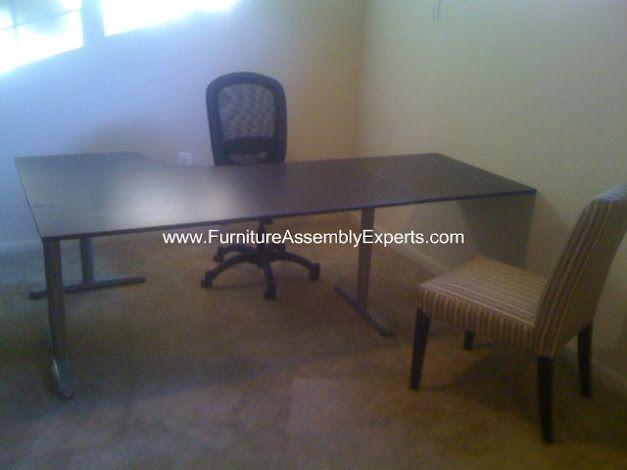 Ikea Effektiv Desk Embled In Washington Dc By Furniture Embly Experts Company