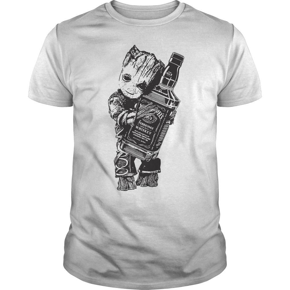 Groot Hug Jack Daniel S Shirt Hoodie Sweater And V Neck T Shirt Jack Daniels Shirt Shirts Groot [ 1010 x 1010 Pixel ]