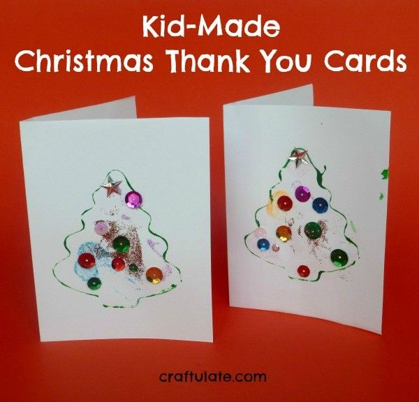 KidMade Christmas Thank You Cards  Craft Cards And Holidays