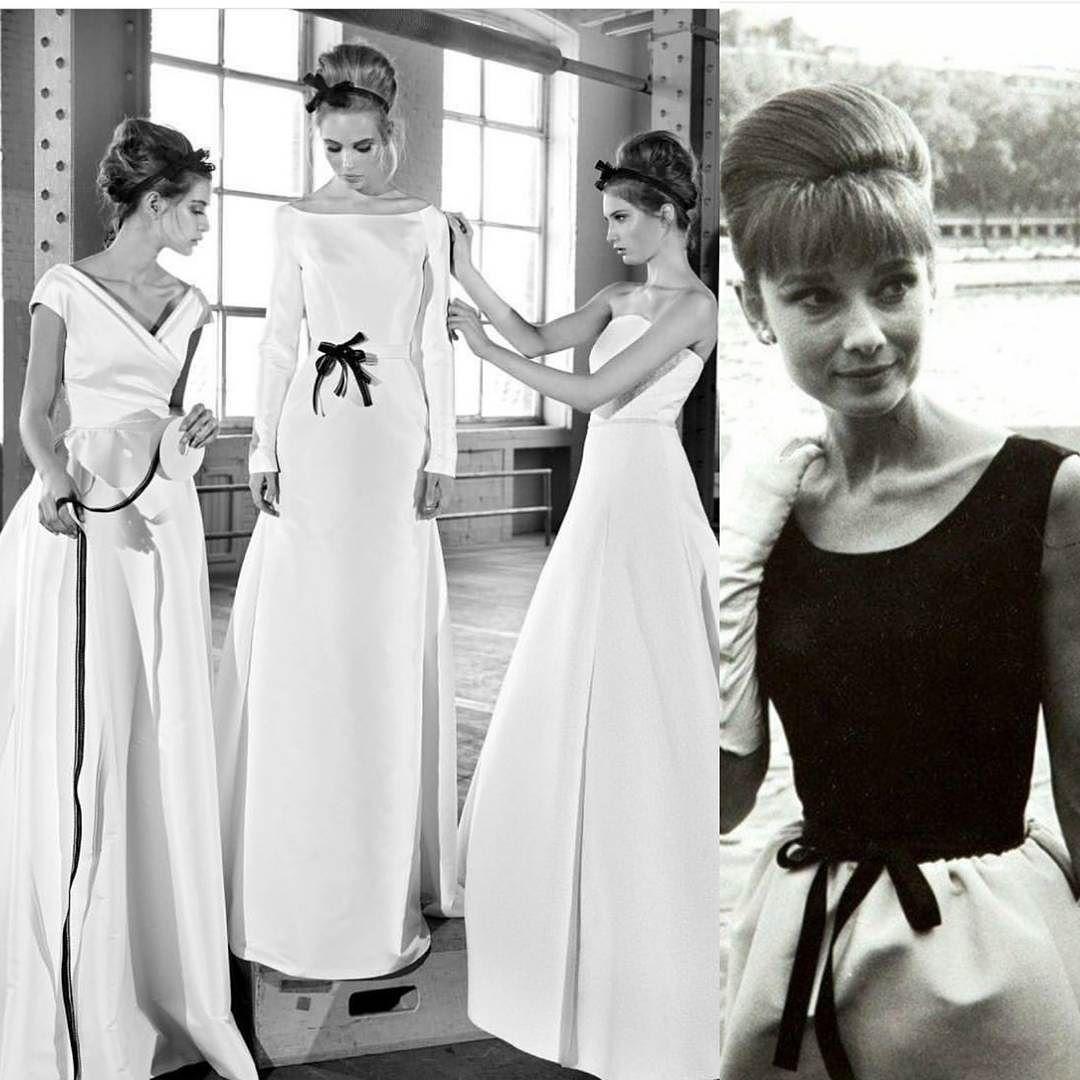 Hommage an die 19er Audrey Hepburnschlicht und elegant Satin