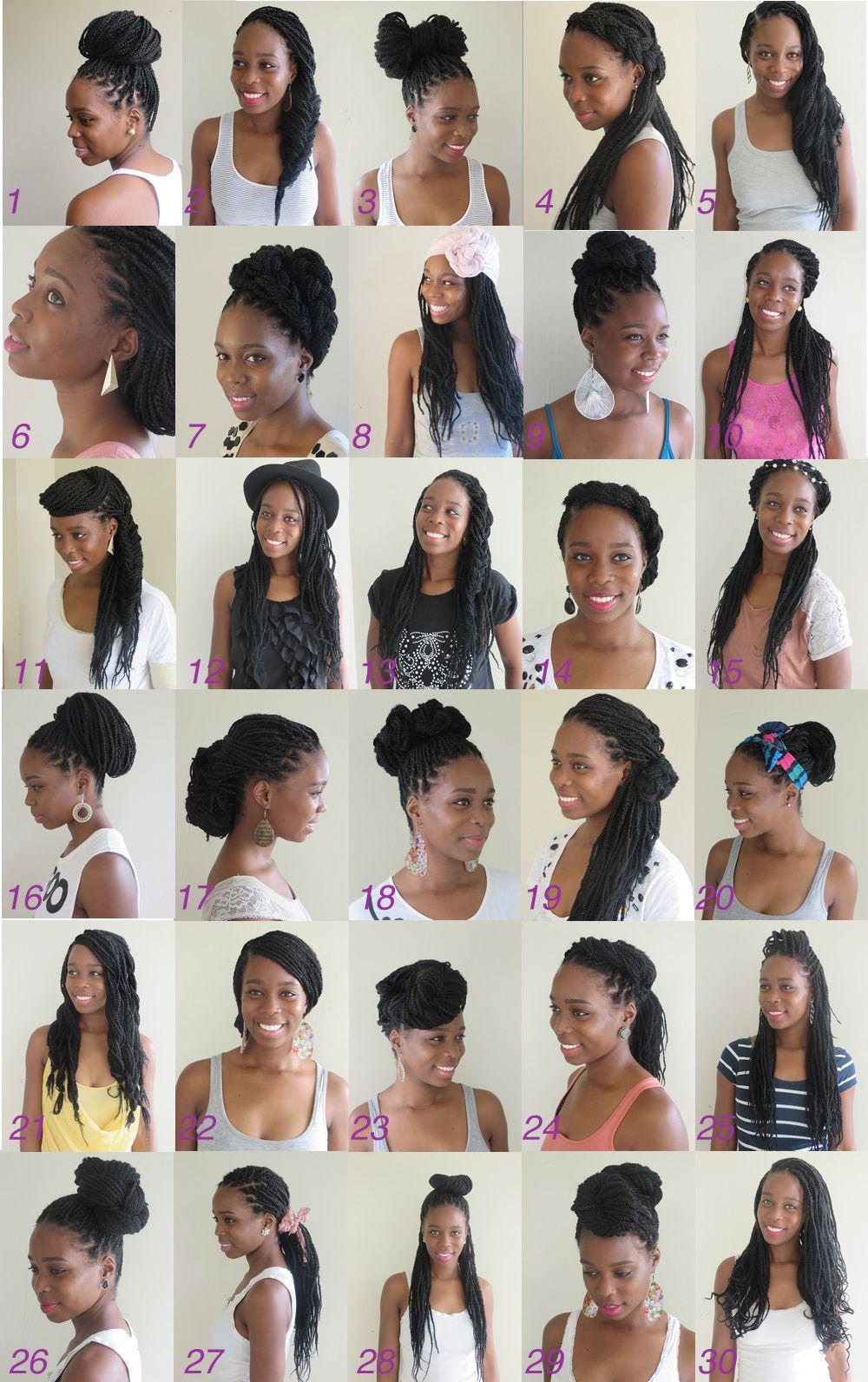 Box Braids Haarstijl De Flower Pin Video Tutorial Myblackhair Box Braids Styling Natural Hair Styles Braided Hairstyles