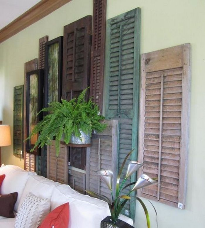Ideas For Decorating Old Windows Diy Shutters Old Window Decor Shutter Decor