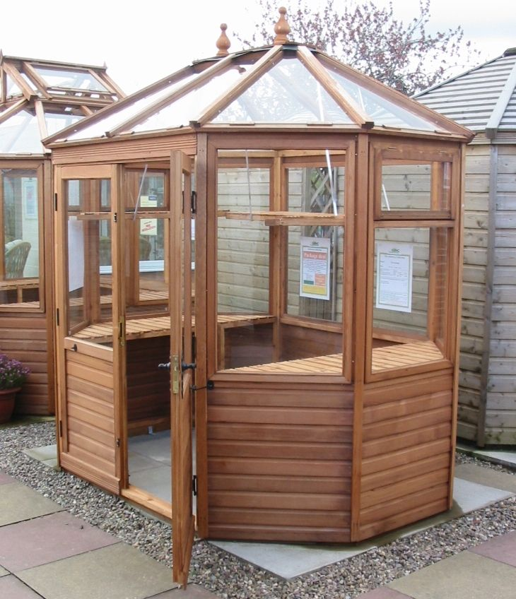 Octagonal greenhouse. This resource breaks down pros/cons ...