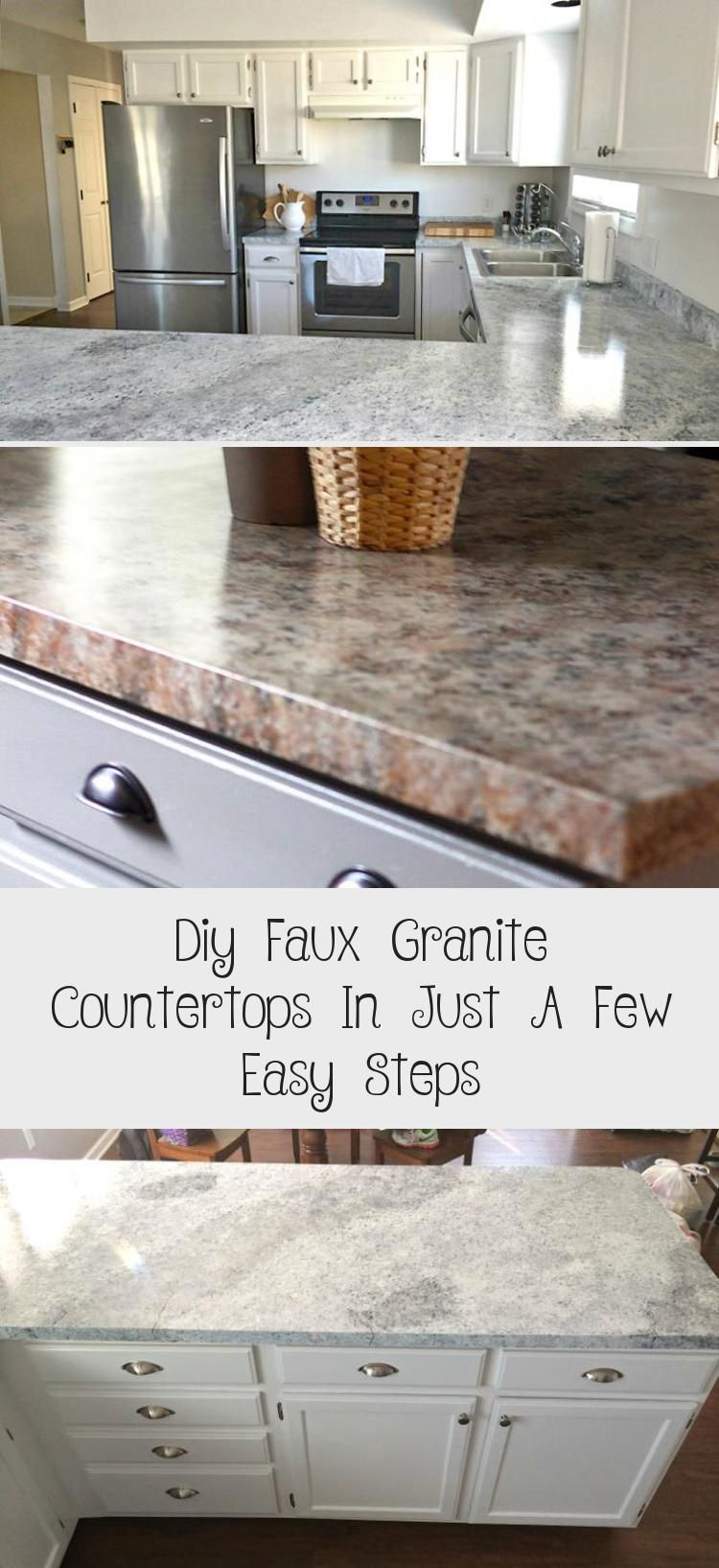 Diy Faux Granite Countertops In Just A Few Easy Steps Faux