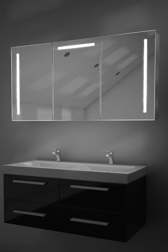 Cali Led Badezimmerschrank Mit Spiegelheizung Sensor Rasierer