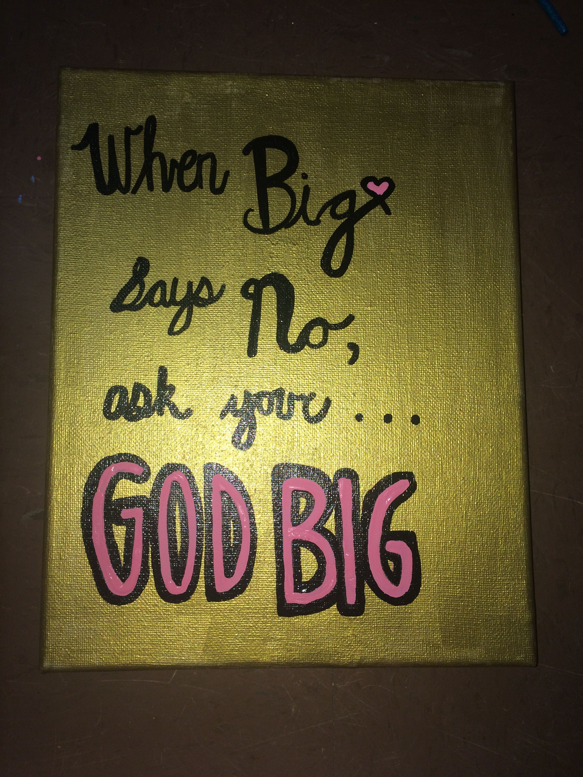 Sorority painted canvas for God Little from God Big