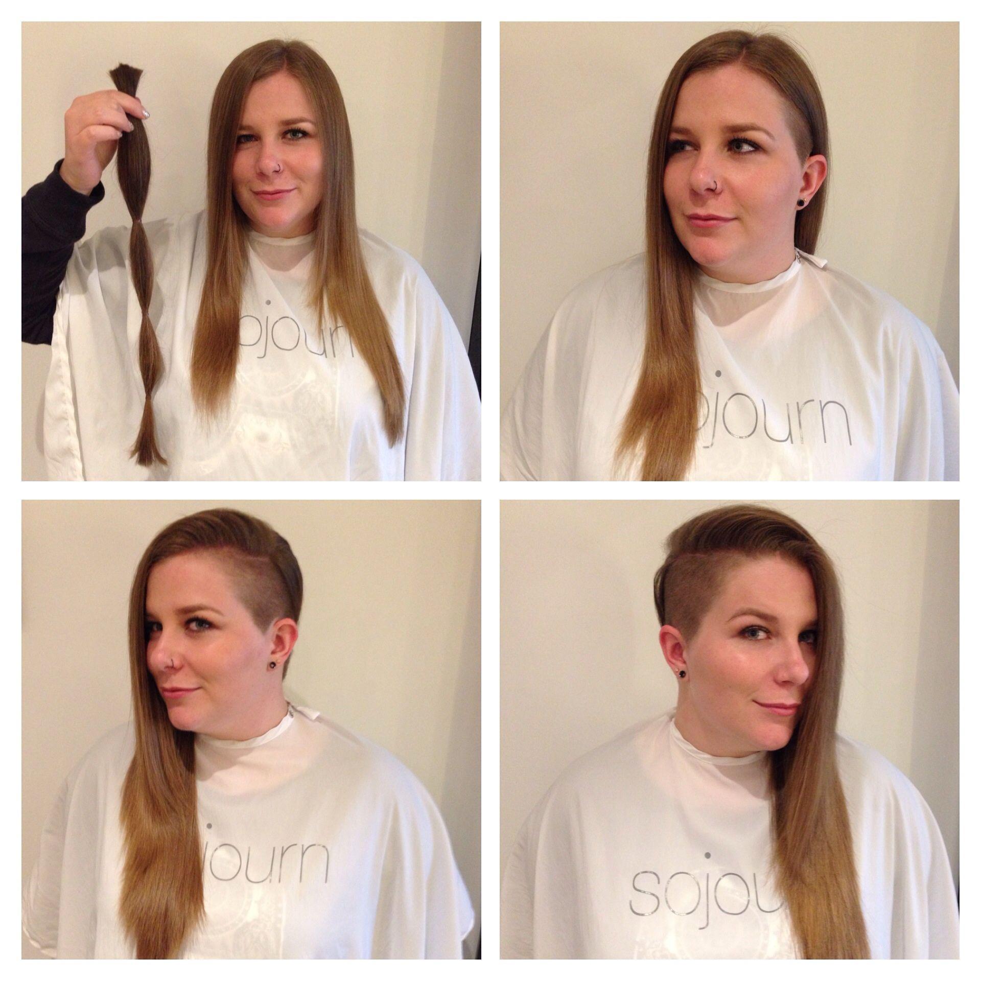 Cut and hair donation done by Sandy  Sandyus Portfolio  Pinterest
