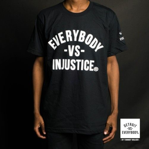 Everybody Vs Injustice Mens Tops Mens Tshirts Detroit Vs Everybody