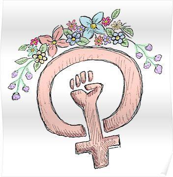 Feminism Poster By Lilliesandroses Feminist Art Feminism Girl Power