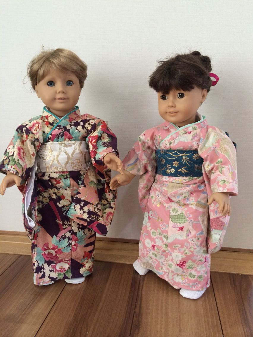 Custom made kimono for American girl dolls Dolls again