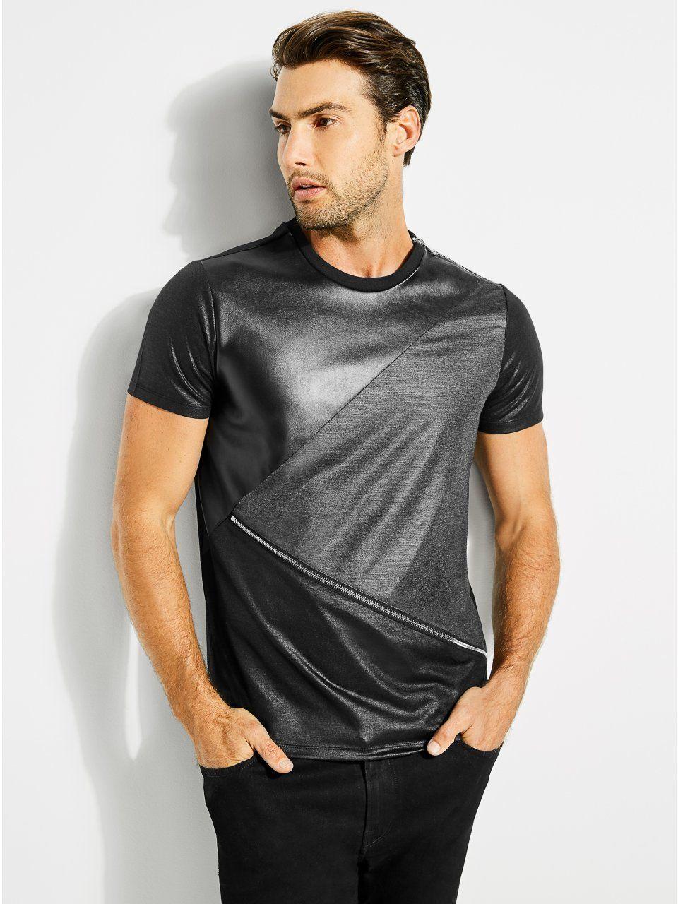Mason Shine Zip Tee in 2019 | Men's Summer Fashion | Mens