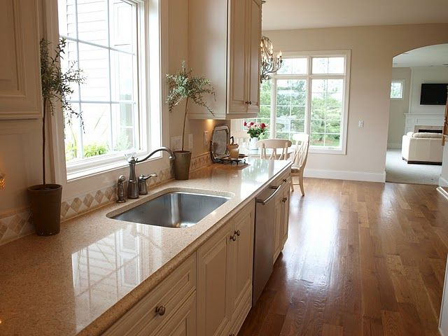 White Kitchen Maple Floors white oak hardwood flooring (fruitwood stain) *solid maple