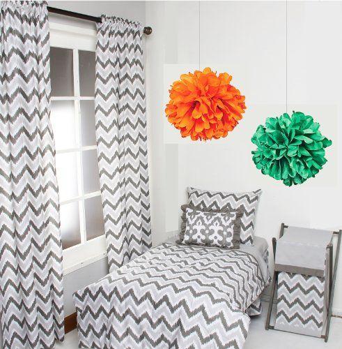 Bacati Ikat Zigzag Grey 4 Pc Toddler Bedding Set