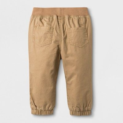 67692e256a60 Baby Boys  Pull On Twill Pants - Cat   Jack Khaki (Green) 18M ...