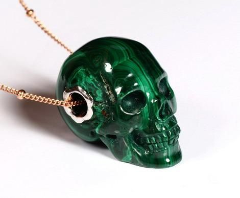 Malachite crystal skull pendant cool things pinterest crystal malachite crystal skull pendant mozeypictures Images