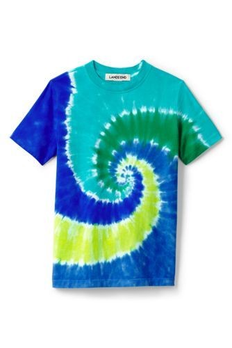 d04147e35a749e Boys Tie Dye Tee from Lands' End - pick tees that are 100% cotton and are  solids, patterns, or have a happy images. Avoid sayings, cartoon  characters, camo, ...